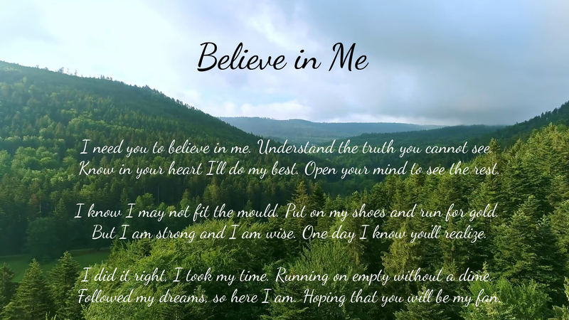 Believe in Me - Poetry by Lace