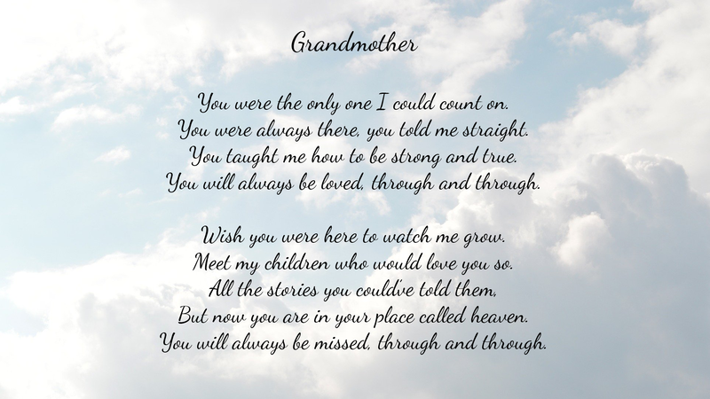Grandmother - Poetry by Lace