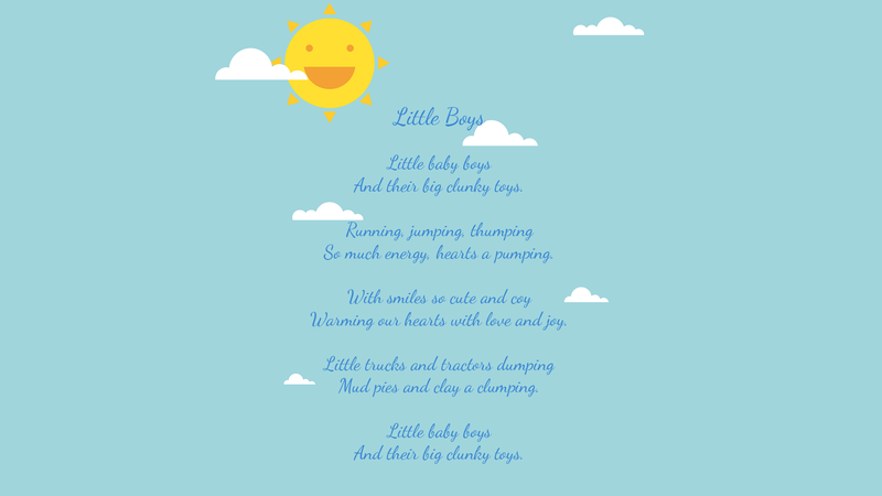 Little Boys - Poetry by Lace