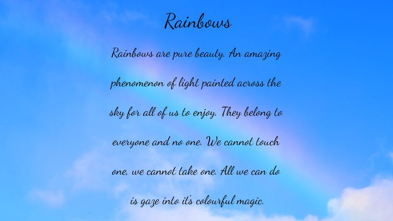 Rainbows - Poetry by Lace
